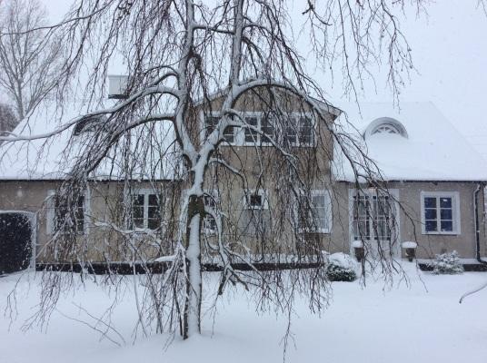 På vintern - Boningshuset norr