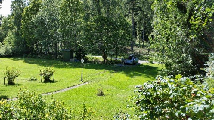 På sommaren - Från huset, utsikt över tomten
