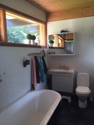 Badrum - toalett, badkar, dusch