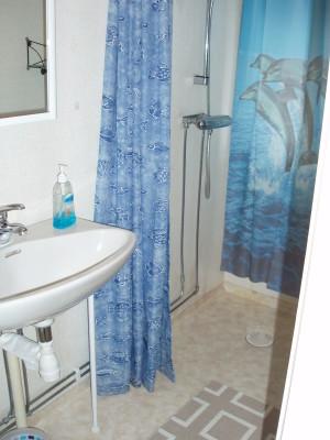 Badrum - Dusch/wc/handfat i relativt rymligt badrum.