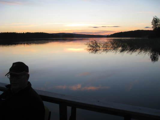 på sommaren - Kvällstur på Sörsjön en sommarkväll.