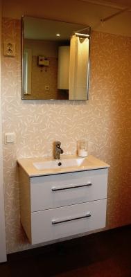 Badrum - Badrum med dusch, handfat, toalett, tvättmaskin