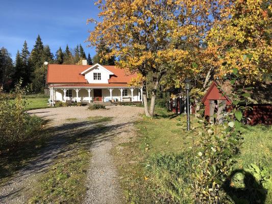 På sommaren - Höstbild från huset / Autumn picture
