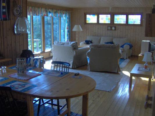 Vardagsrum - vardagsrum med panoramafönster