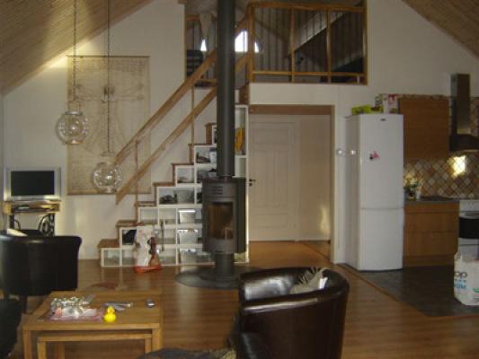 Vardagsrum - allrum med braskamin