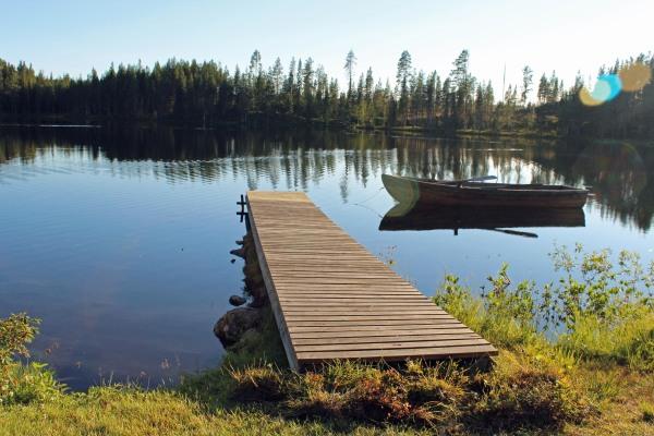 På sommaren - Lapplandsstuga