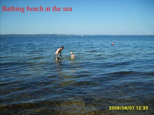 på sommaren - Barnvänlig badstrand