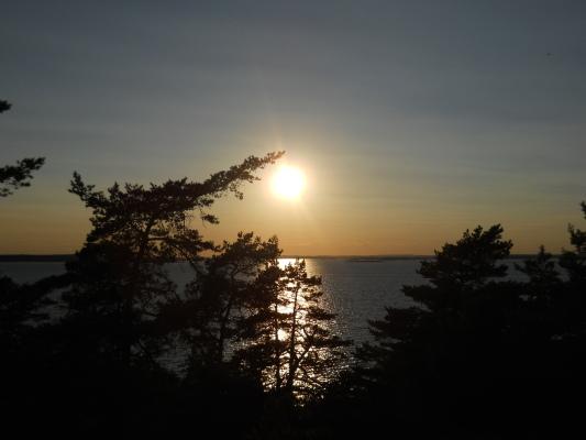 på sommaren - Solen går ned