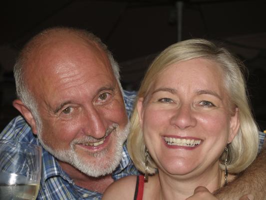 Hyresvärd - stugägare Renate och Guenther från Hamburg