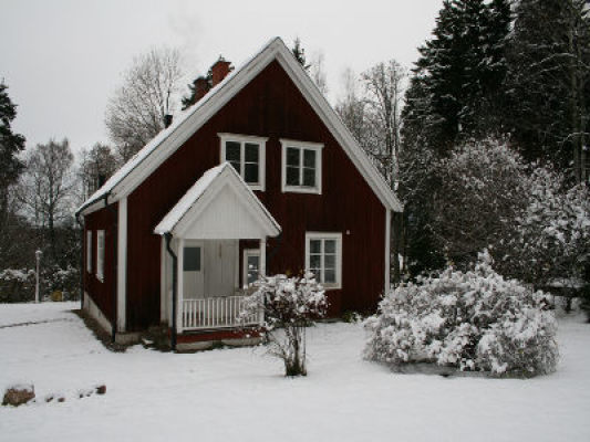 på vintern - Huset på vintern