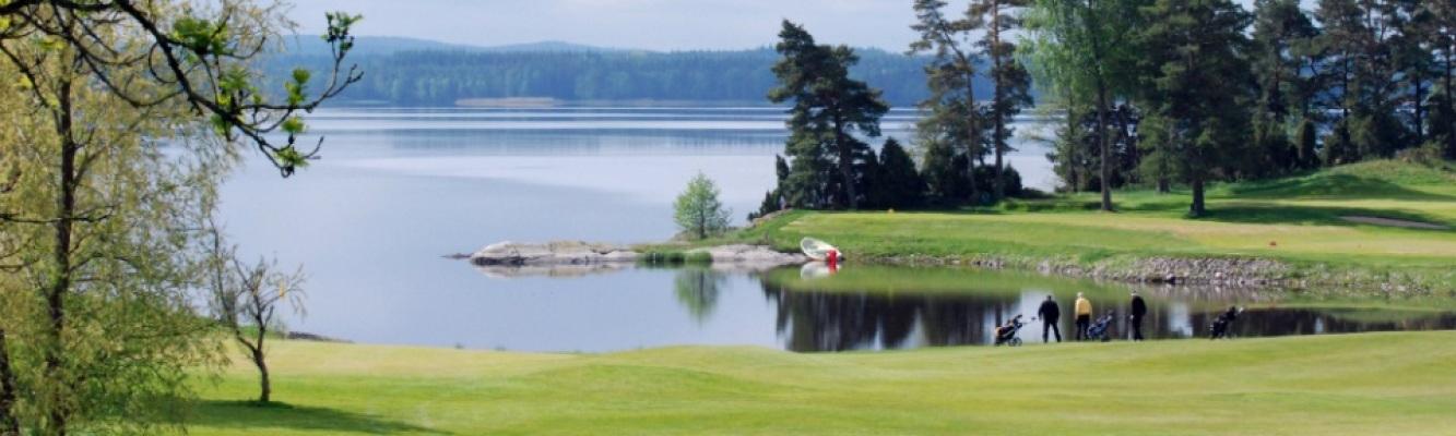 på sommaren - Utsikt från golfbanans klubbhus!