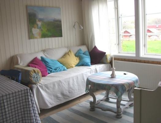 Vardagsrum - TV-soffa/säng i allrummet