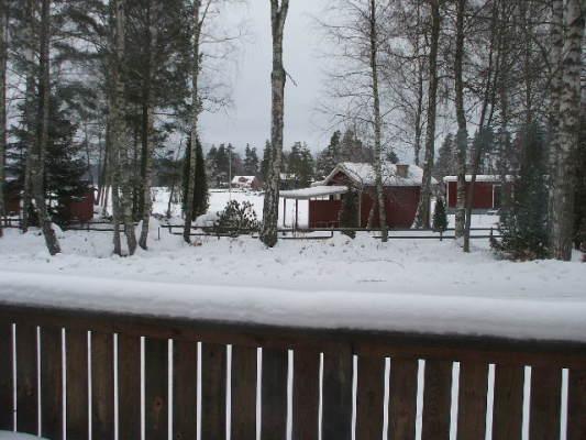 på vintern - Utsikt mot sjön