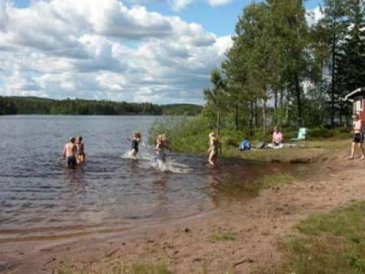 på sommaren - Badplatsen
