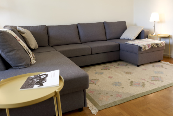 Vardagsrum - soffan i vardagsrummet