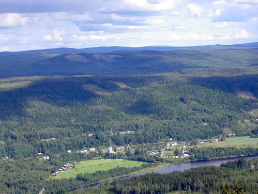 på sommaren - Utsikt från Branäsberget