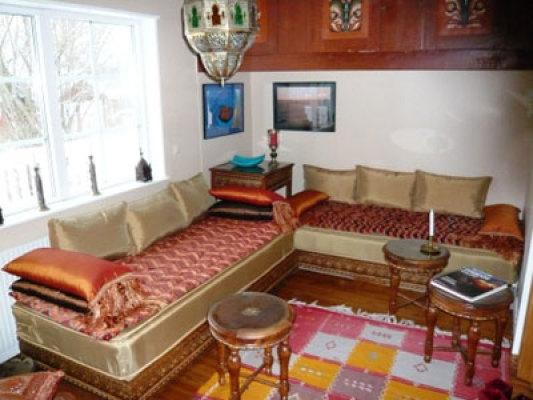 Interiör - marokkansk rum