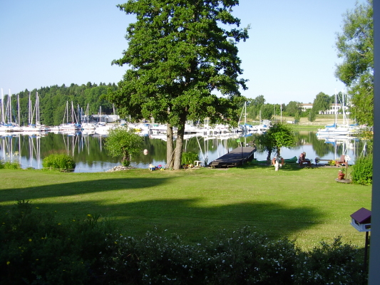 View summer - view of the lake Mälaren and the marina