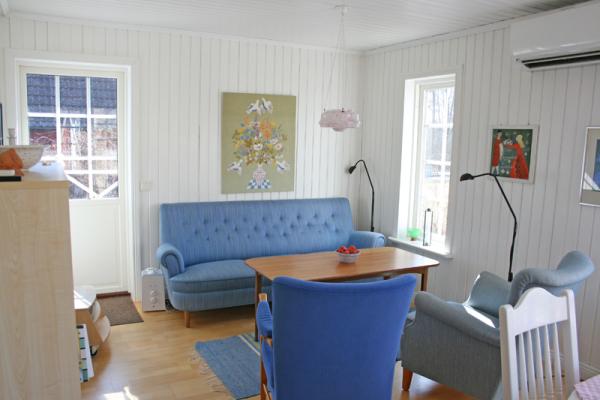 Vardagsrum - Vardagsrum i den nya stugan