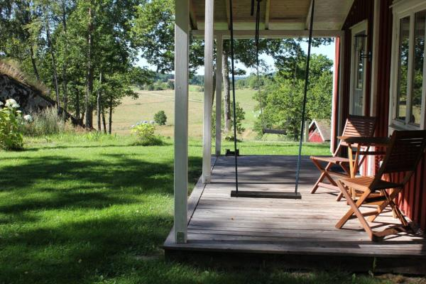 På sommaren - Liten terrass under tak