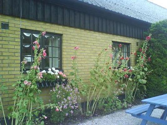 På sommaren - Framsida annexbyggnad i Sjöstorp