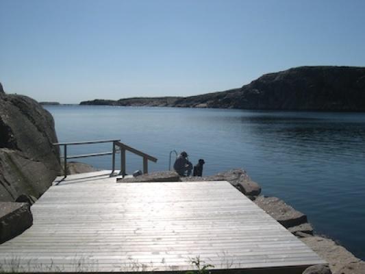 på sommaren - Alebackens badplats