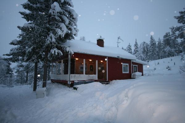 På vintern - Stuga Torneälven