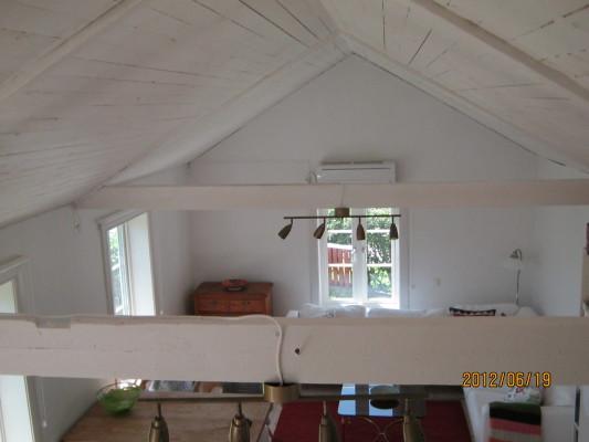 Vardagsrum - Vardagsrummet sett från sovloftet