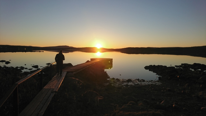 på sommaren - Stuga Torneälven
