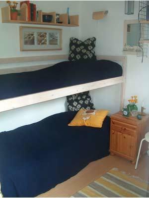 Sovrum - Våningssäng i gäststugan