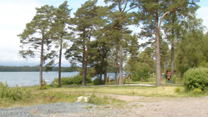 på sommaren - sjö i närheten