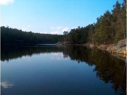 på sommaren - Närliggande sjö