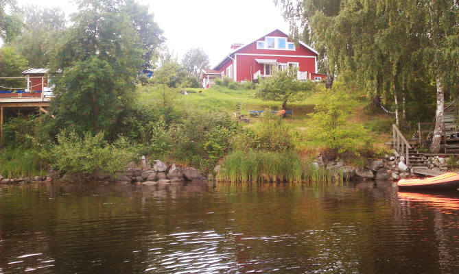 På sommaren - Huset sett från sjösidan