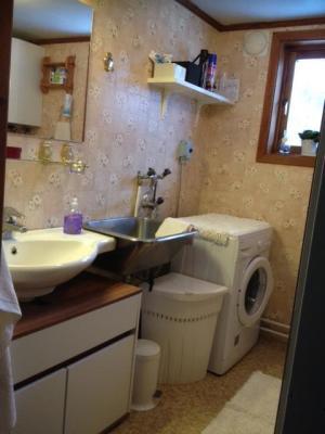 Badrum - Badrum med dusch och WC, tvättmaskin