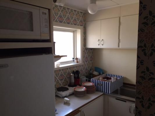 Kök - Pentry med 2 kokplattor, kylskåp och mikrovågsugn