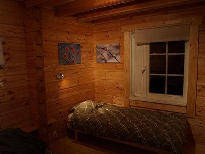 Schwedisches Schlafzimmer | Ferienhaus Schweden Jamtland Bracke Timmerlodge