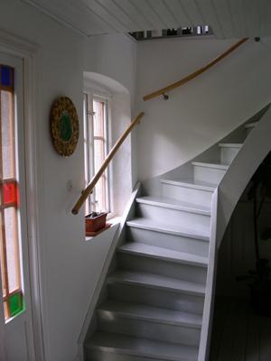 Interiör - Trappa till ovanvåningen