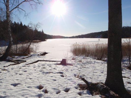 På vintern - Badplatsen