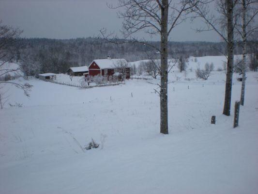 på vintern - Snörik vinter