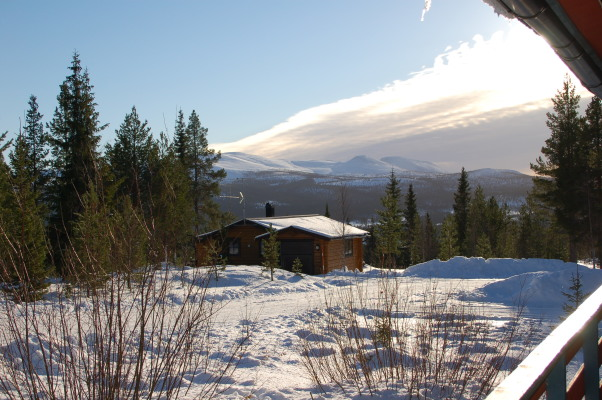 På vintern - utsikt från terrassen