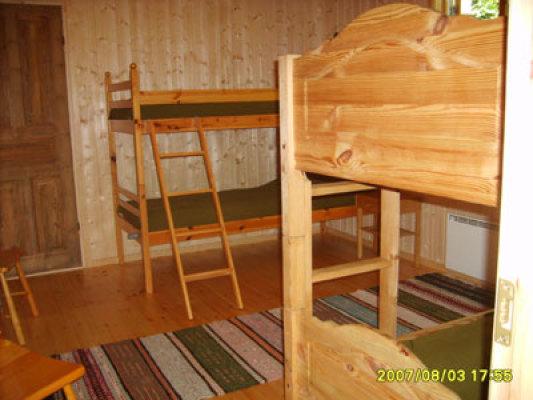 Sovrum - sovrum med 4 sängplatser 2x2 sängar (ej lakan och handdukar)
