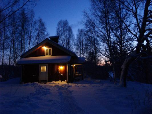 På vintern - på kvällen
