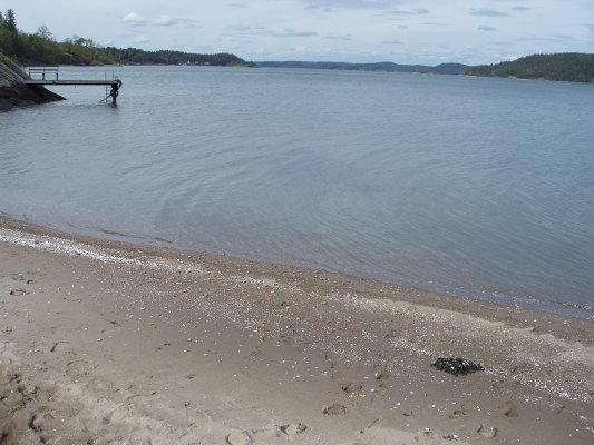 på sommaren - Det är mycket fin sandbotten, rent vatten och så vackert!