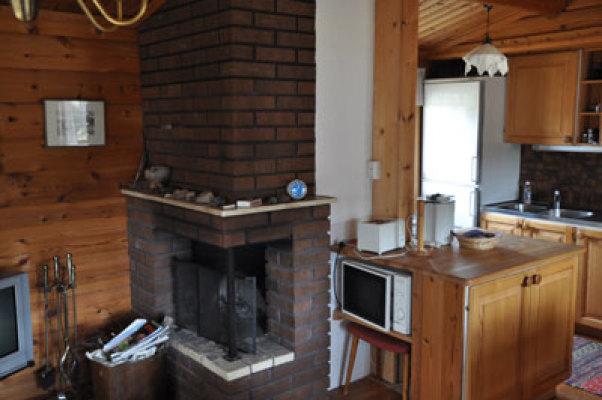 Wohnzimmer - mit offenen Kamin