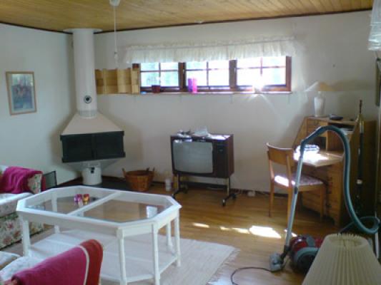 Övrig - vardagsrum med braskamin