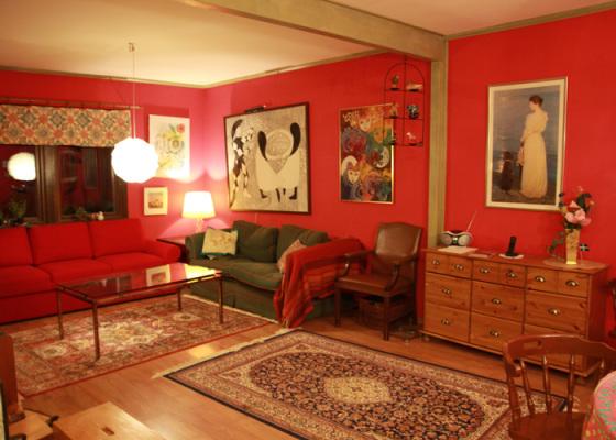 Vardagsrum - Vardagsrum med två bäddsoffor