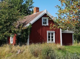 Log cabin in Swedish Småland at Pippi