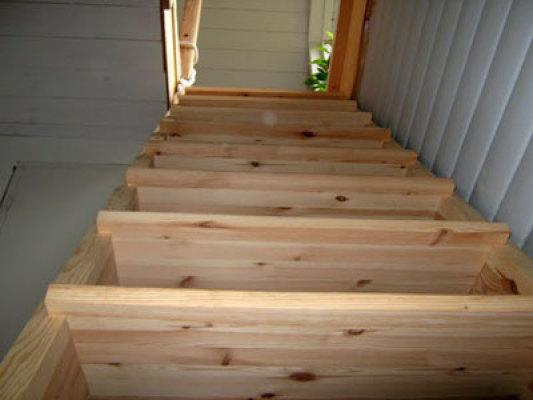 Interiör - trappan upp till sovrum