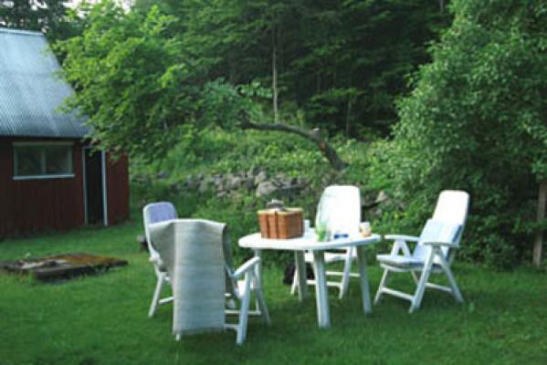 Övrig - uteplats i trädgård