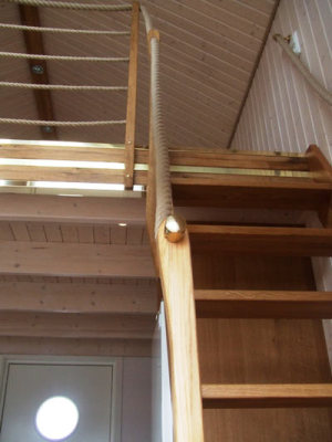 In house - stairs to the loft